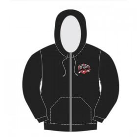 FTX Badge Logo Zipped Hoodie Black - Medium