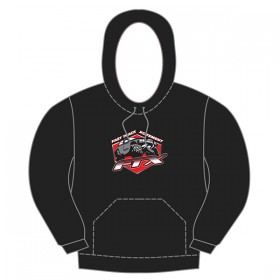 FTX Badge Logo Brand Pullover Hoodie Black - Small