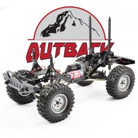 FTX Outback 2 Rolling Chassis 1:10 Crawler W/Treka Body Clear