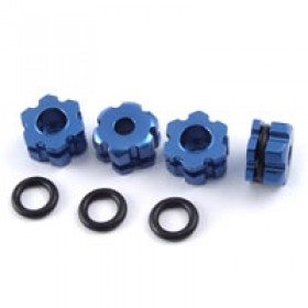 FTX Blue Aluminium Wheel Hub Hex (rampage/outrage)