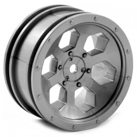 FTX Outback 6hex Wheel (2) - Grey