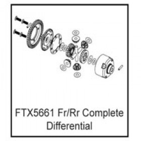 FTX Fr/rr Complete Differential (rampage/outrage/spyder)