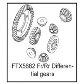 FTX Fr/rr Differential Gears (rampage/outrage/spyder)