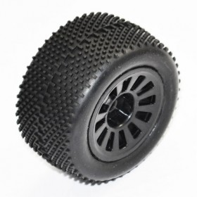 FTX Colt Buggy Wheel/tyre Set 2sets - Black